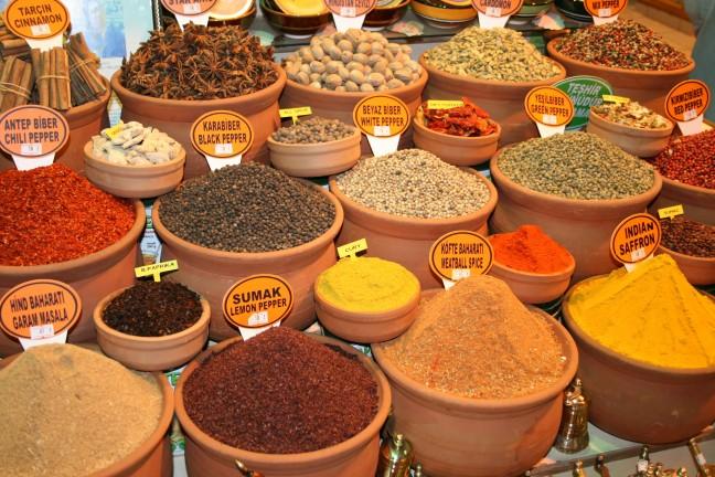 Kruiden en specerijen in Istanbul