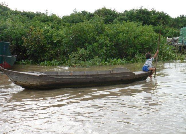 Jongen op boot