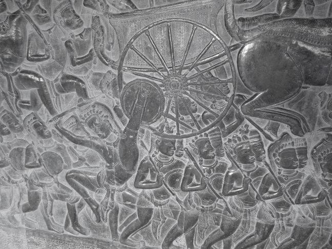 Zilvergrijs bas-relief