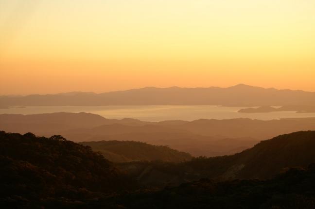 Zonsondergang over Monteverde