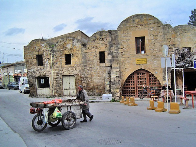 Groenteman van Noord-Nicosia
