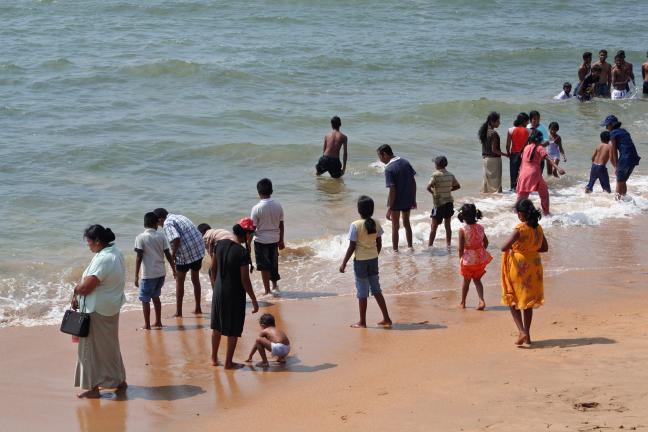 Uitpuffen aan het strand
