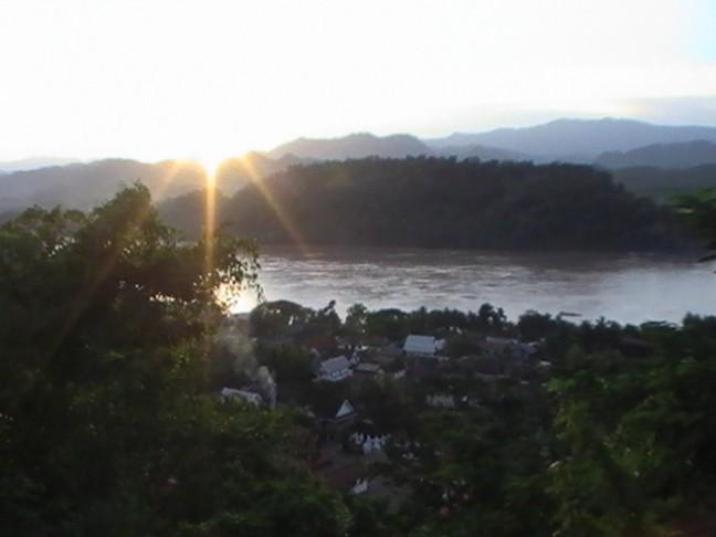 Zonsondergang Luang Prabang