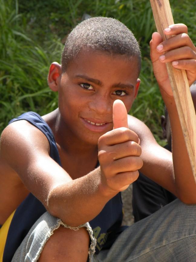 Jongen uit Haiti