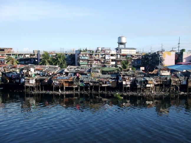 De slums van Manilla