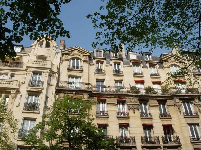 Mooie huizen in Parijs