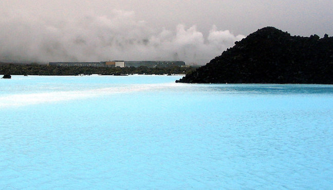 Blue Lagoon in IJsland.