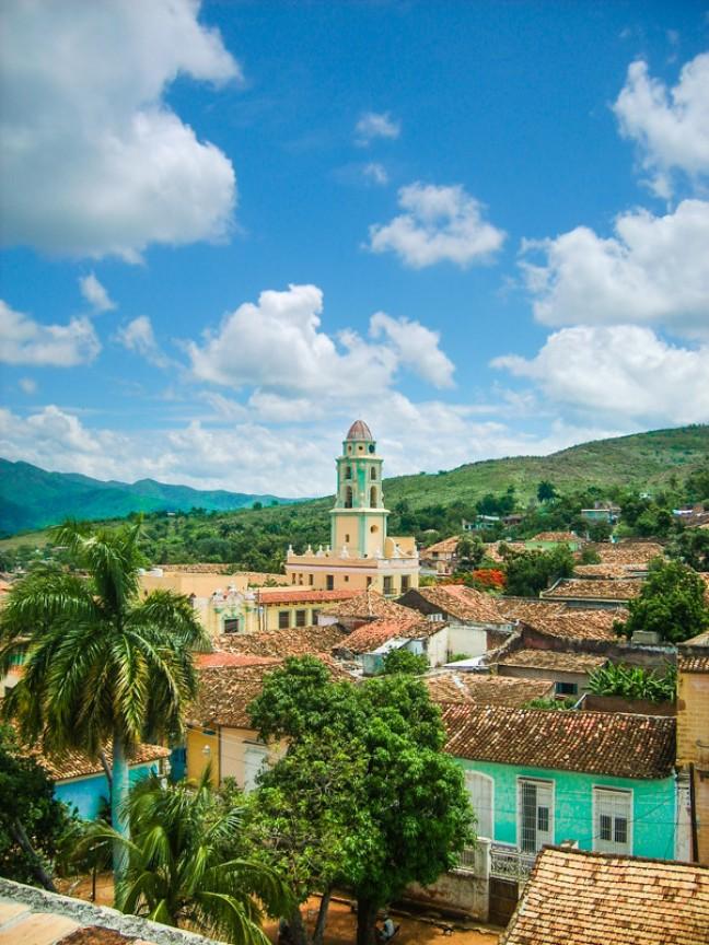 Uitzicht over Trinidad, Cuba