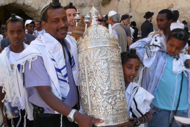 ethiopische joden bij de klaagmuur