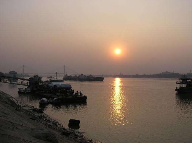Sunset on Hooghly river Kolkata