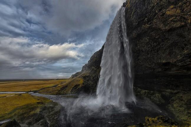 Seljalandsfoss waterval in IJsland.