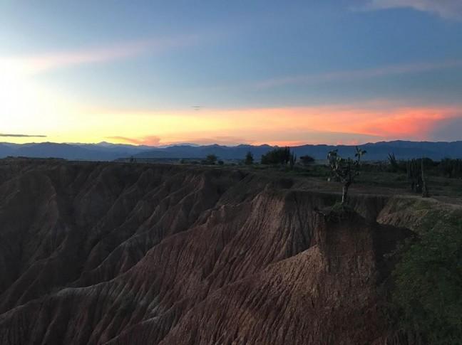 Tatacoa zonsondergang