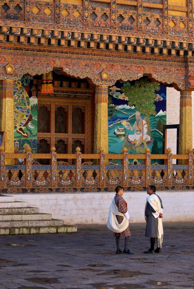 Tempel in de dzong van Punakha