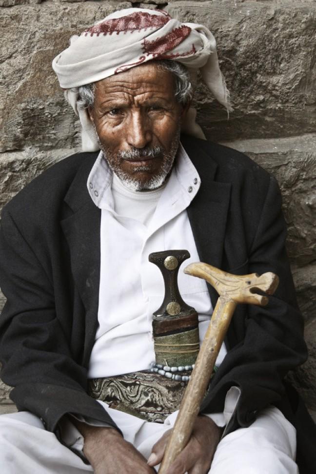 Locale man. Stammen gebied Jemen.