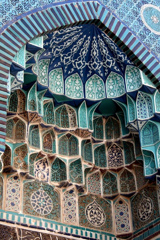 turkois in de moskee