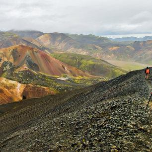 Kleurrijk vulkanisch IJsland