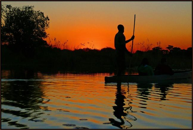 Poler at sunset