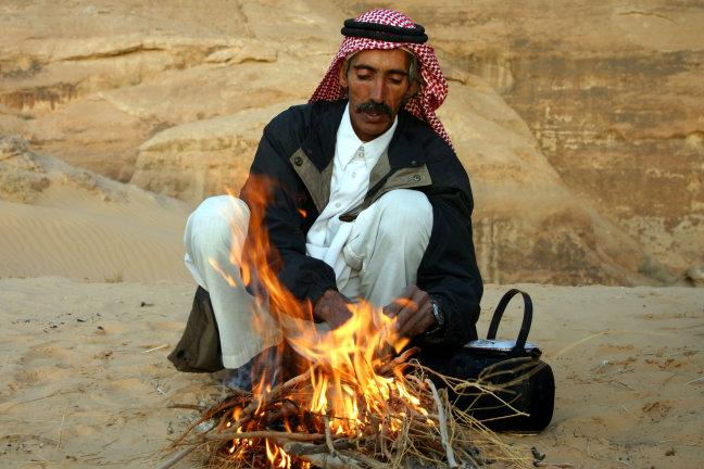 Thee in de woestijn
