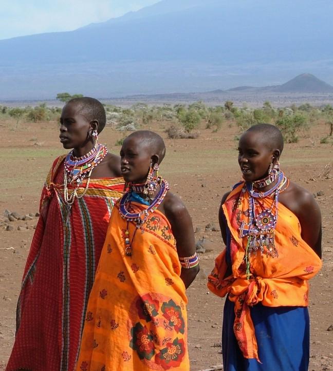 Masai bij Kilamanjaro