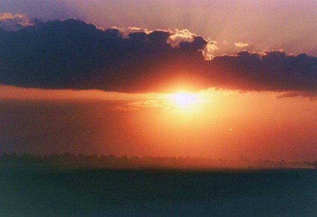 zonsondergang..