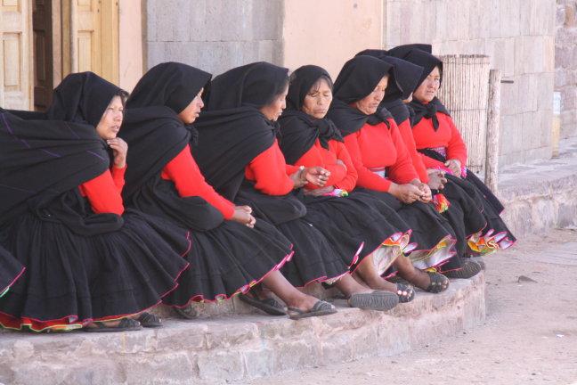 dames uit de kerk