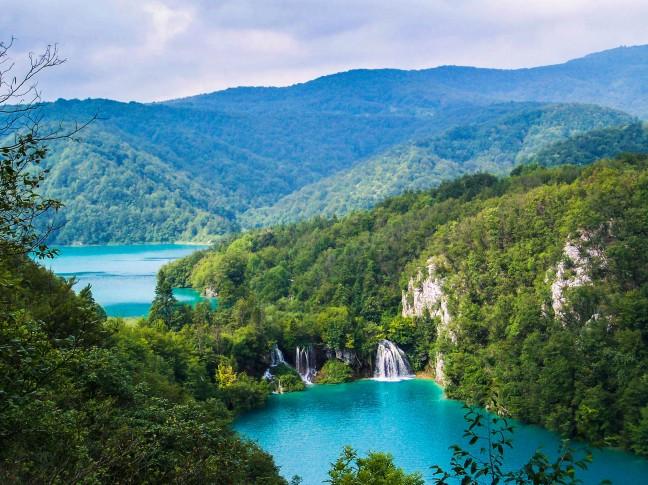 De vele watervallen van Plitvice Meren NP