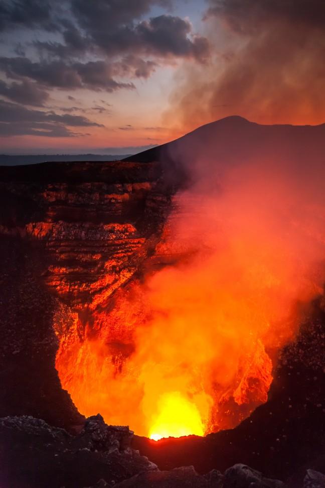 De actieve Masaya vulkaan