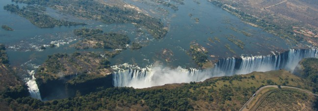 Vlucht over de Victoria Falls