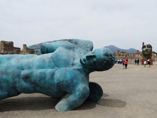 Beelden in Pompeii