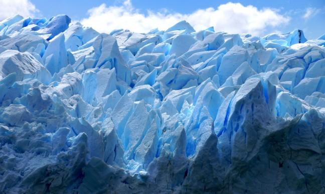 De pieken van de Perito Moreno