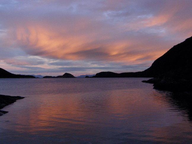 zonsondergang NP Tierra del Fuego