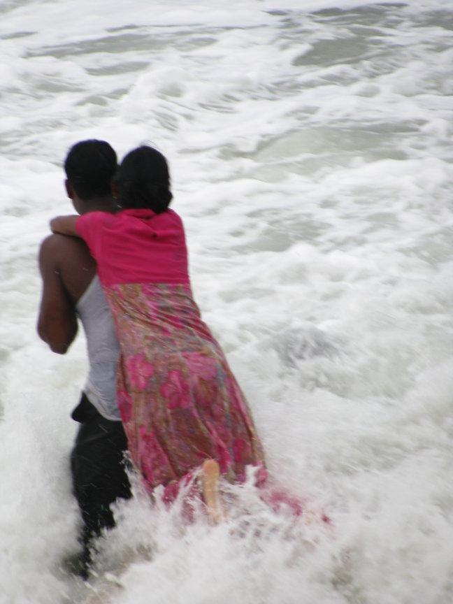waterpret tijdens cycloon!