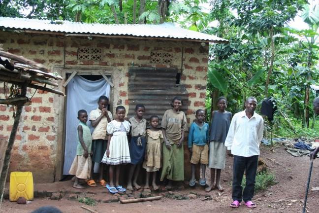 familie voor hun huis