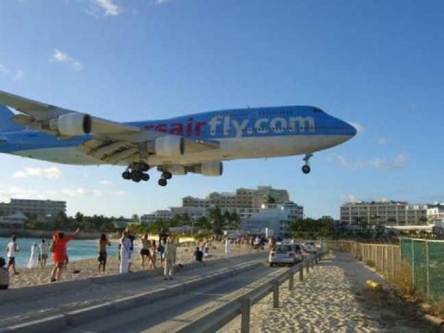 landing op Princess Juliana International Airport St.Maarten