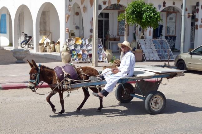 Ezelswagen op Djerba