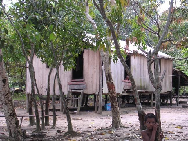 Amazone, woning indianen