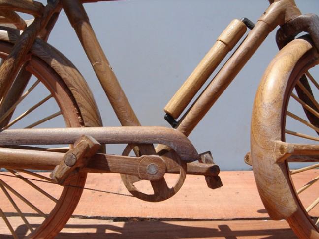 houten fietsje