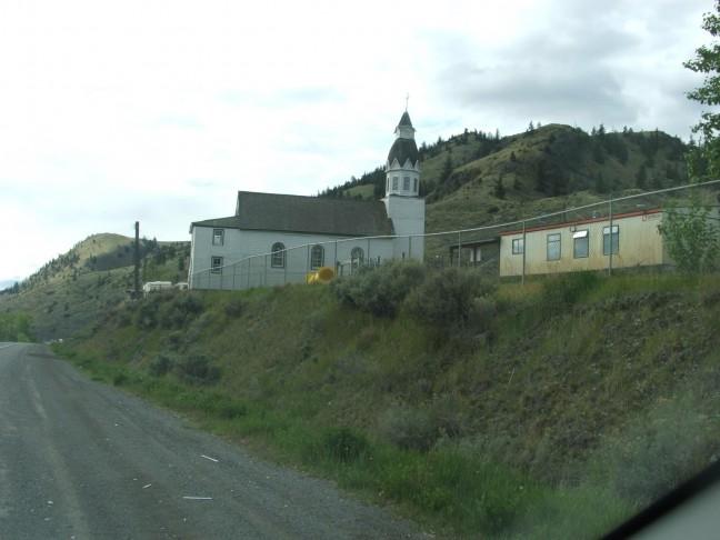 Een kerk onderweg naar Kamloops