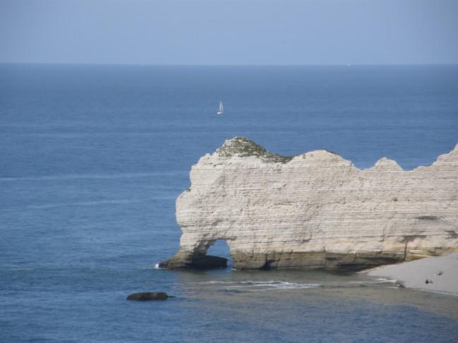 Kalksteenrots Frankrijk