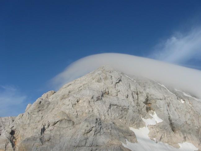 De Triglav, 2864m hoog, het hoogste punt en nationaal symbool van Slovenië