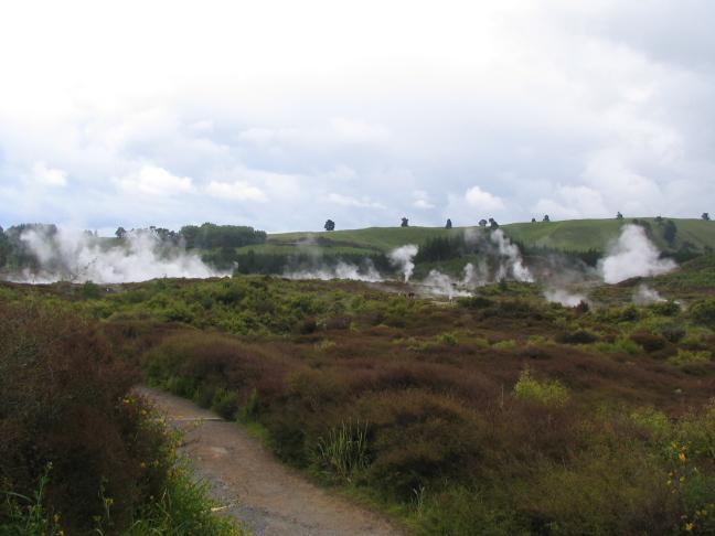Zwavellandschap in de buurt van Rotorua