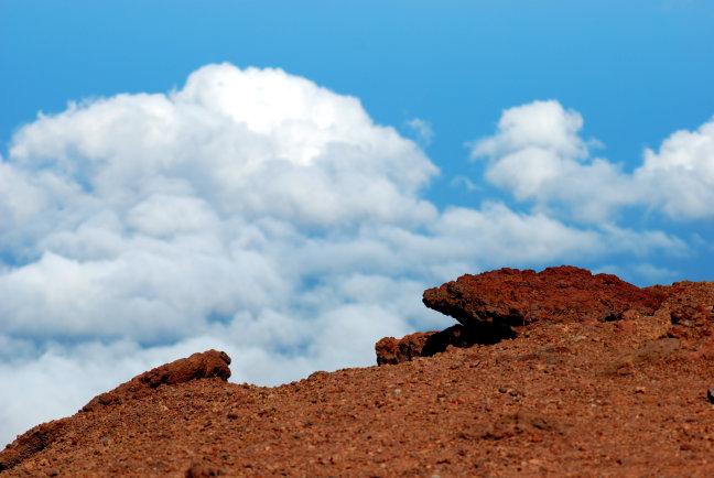 Wolken en lava