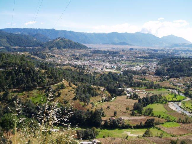 Uitzicht over een stadje