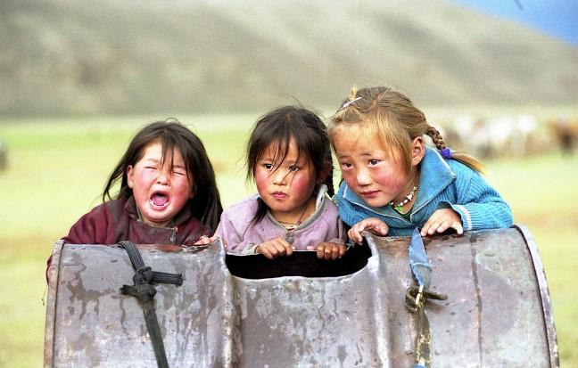 Mongoolse meisjes