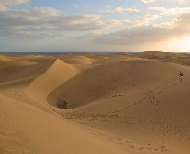 De duinen in Maspalomas