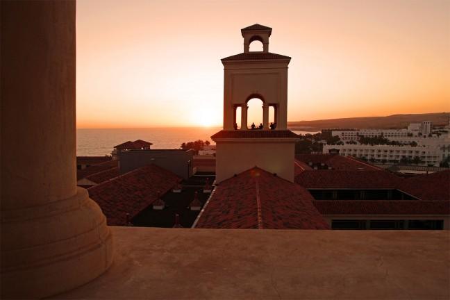 uitzicht vanaf het hoteldak