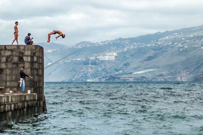 Zwemmen (en duiken) in de haven van Puerto