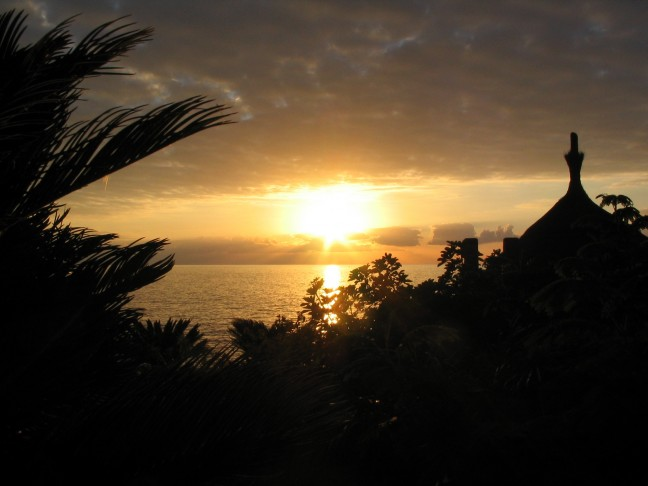 Zonsondergang op Tenerife