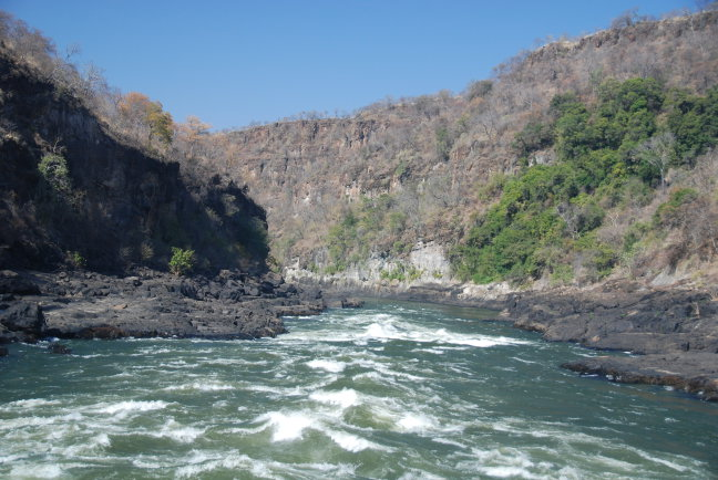 Vlucht boven de Zambezi River