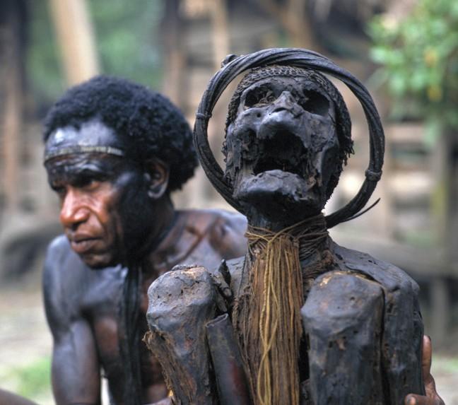 Papoea mummie